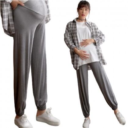 Korean Plus Size Maternity Pants Pregnancy Women Loose Harem Pants Nursing Mum Trousers Adjustable Long Pant Seluar Mengandung Panjang 孕妇宽松哈伦裤 Ready Stock 311194