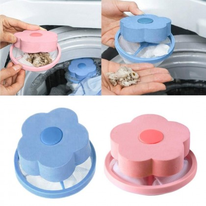 Flower Shape Mesh Laundry Filter Bag Floating Lint Hair Catcher Washing Machine Removal Device Cleaning Ball Ready Stock 014442