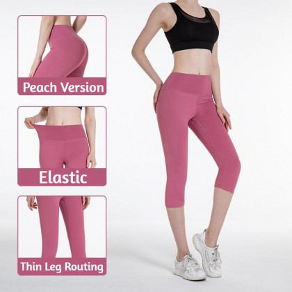 Yoga 7 Pants Sport Pants Women Legging Fitness Trackpants Gym Pants Stretchable Running Pants Peach Hip Ready Stock 326622
