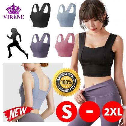 Elastic Yoga Bra Women Fitness Vest Athlete Workout Sports Bra Running Jogging Push Up Bra Prevent Shake Sleeveless Shirt Ready Stock 322244