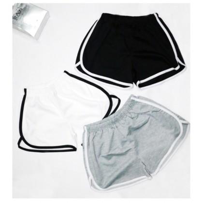 Women Sport Pants Ladies Short Pants Casual Waistband Seluar Sukan Pendek Wanita Seluar Pendek 休闲短裤 运动短裤 Ready Stock 107772