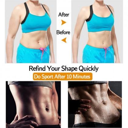 Women Neoprene Sauna Belt Waist Trainer Postpartum Recovery Corset Shaper Body Slimming Trimmer Belt Compression Fat Burning Waist Cincher Ready Stock 218886