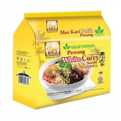 MyKuali Vegetarian Instant Noodles Penang White Curry 素食 槟城白咖哩面 (105g x 4packs) Mee Kari Putih Penang Ready Stock 9555655005784