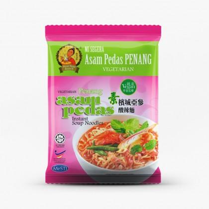 Nyor nyar vegetarian asam pedas instant soup noodles 娘惹料理槟城亞参酸辣面  (105g x 4packs) Ready Stock 9555724501995