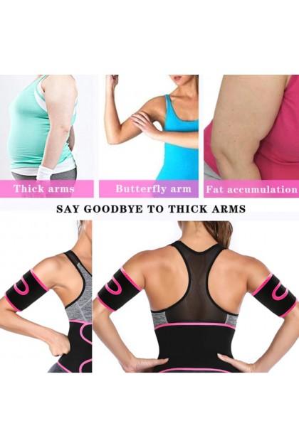 Women Arm Trimmer 1 Pair Sauna Sweat Arm Shaper Fat Burning Arm Slimmer Workout Arm Trainer Cincher 手臂锻炼带 手臂塑形带 Ready Stock 100060
