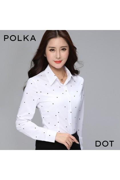 Korean Fashion OL Blouse Women Long Sleeve Working Top Office Lady Attire Formal Shirt 【2 Design】 Blaus Formal 韩版女士正装上衣 Premium Quality Ready Stock 329933