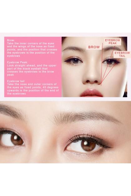 100% Original ROREC Cherry Blossoms Eyebrow Pencil Double-Head Long Lasting Waterproof Eyebrow Tool Non-Irritate 双头持久眉笔 Ready Stock 0683BA