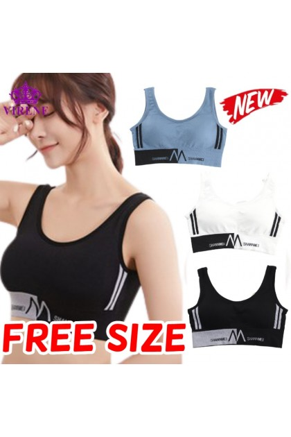 Women Sport Bra M Sport Bra Free Size Female Innerwear Beauty U Back Baju Dalam Wanita 运动内衣 Ready Stock 181163