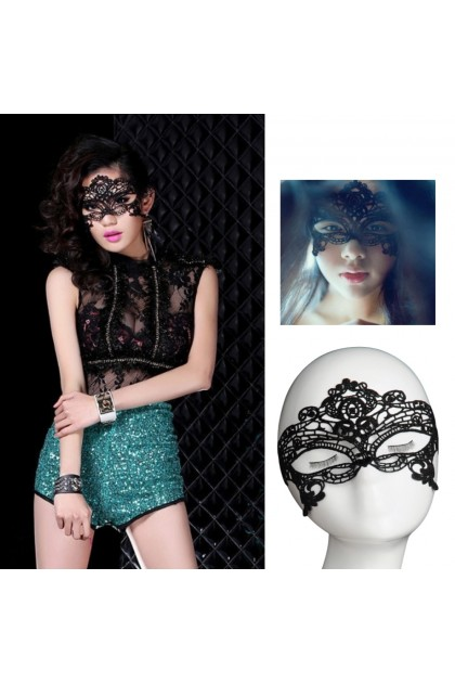 Sexy Lingerie Women Sexy Lace Blindfold Costume Eye Mask Adjustable Halloween Party Floral Face Mask Penutup Mata Seksi 时尚蕾丝性感眼罩面具 Ready Stock 113