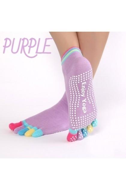Women 5 Toes Socks Skidproof Women Socks Stocking Breathable Yoga Gym Socks Anti-Slip Stocking Wanita 袜子 Ready Stock 060049
