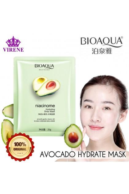 100% Original BIOAQUA Avocado Tender Hydrating Mask Mild Extract Moisture Skincare Skin Delicate Smooth Sheet Mask 牛油果柔嫩保湿面膜 Ready Stock 45824BA