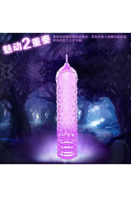私享玩趣omysky迷醉森林水晶套男用狼牙套成人用品 crystal condom adult products men sex toys Ready Stock 101308ST