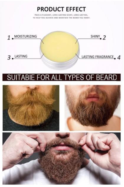 AICHUN BEAUTY Men Beard Care Moisturizing Organic Growth Wax 100% Natural Beard Balm For Men 60g Ready Stock 31902ACB