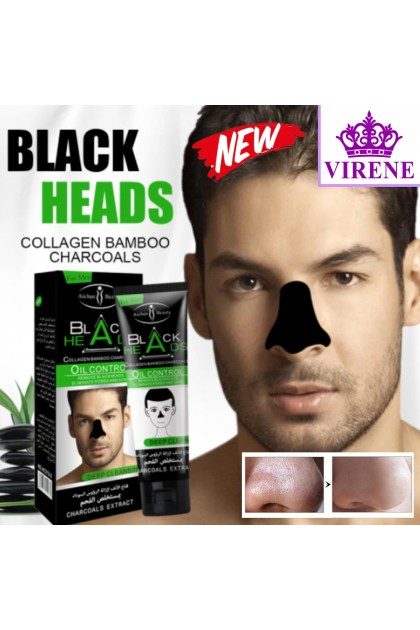 Aichun Beauty Men's Blackhead Removal Mask Deep Cleansing Skin Care Nasal Patch Peeling Mask Charcoal Black Mud Mask Ready Stock 212-2ACB