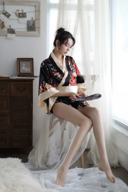 Kimono Costume Women Sexy Lingerie (FREET-Back) Nightwear Sleepwear Robe Japanese Style Sexy Pajamas Baju Tidur 日式和服情趣睡衣 性感睡袍 Ready Stock 060