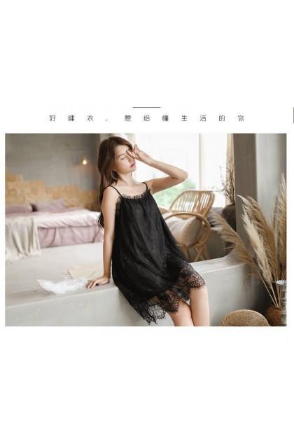 Women Sexy Lingerie (Free T-Back) Sleepwear Nightwear Sexy Pajamas Nightdress Baju Tidur Wanita 女士情趣睡衣性感睡衣 Ready Stock 565