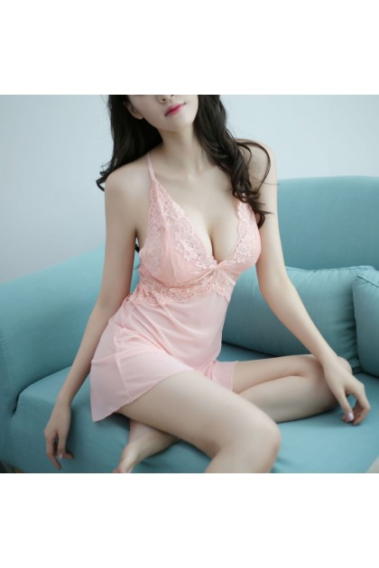 Women Sexy Lingerie (Free T-Back) Sexy Nightwear Pajamas Sleepwear Free Size 3 Colours Baju Tidur Wanita 性感睡衣 情趣睡衣 Ready Stock 366
