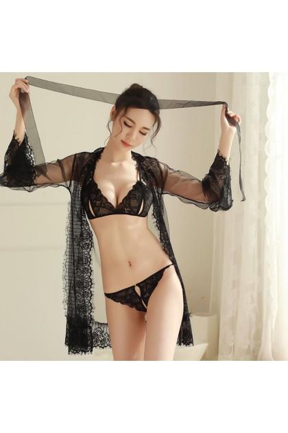 Women Sexy Lingerie (Bikini + Outwear) Set Sexy Nightwear Sexy Pajamas Baju Tidur Wanita 情趣睡衣 性感睡衣 Ready Stock 218