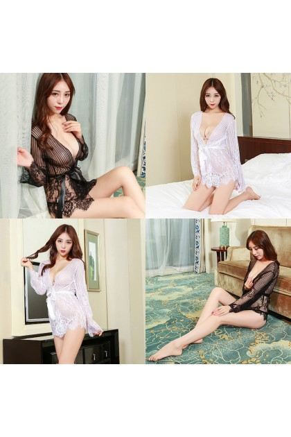 Women Sexy Lingerie (Free T-Back) Sexy Sleepwear Sexy Pajamas Transparent Nightwear Baju Tidur Wanita 性感情趣睡衣睡袍 Ready Stock 701