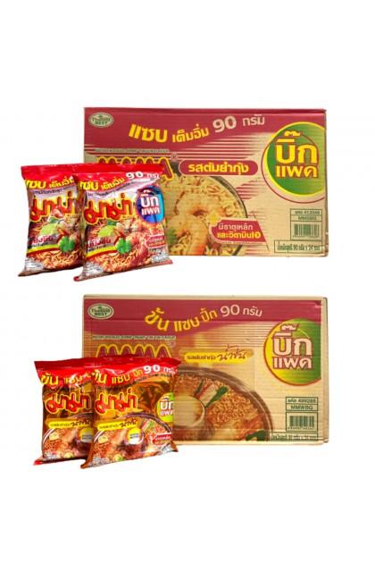 Thailand MAMA Instant Noodles Shrimp Tomyam Mee 90g x 4 / Carton(24) Big Packing 泰国妈妈牌快熟面 东炎面 Ready Stock 8850987