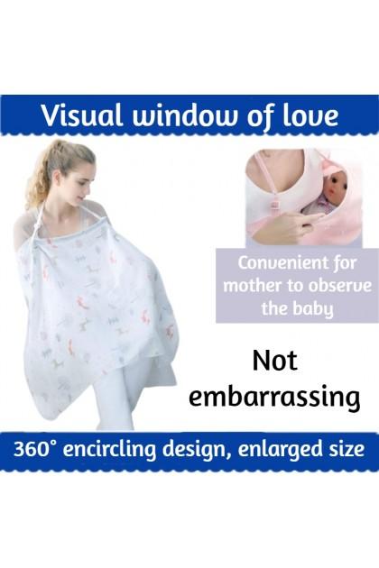 Breastfeeding Nursing Cover Cotton Apron Shawl Lactation Towel Cloth Blanket Tuala Keluar Menyusu 多功能哺乳巾 Ready Stock 211443