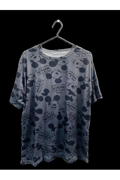 Mickey Logo T-Shirt Korean Fashion Women Blouse Mickey Mouse Shirt Loose Basic Tee Lovely Cute Casual Top Ready Stock 120040-REJ