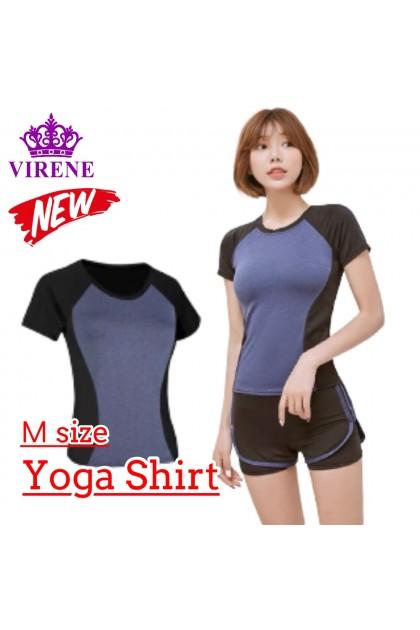 Women Yoga Shirt Fitness Sports Slim Clothes Mesh Sportswear Gym Tops T-Shirt for Ladies Quick Dry Short Sleeve Zumba Shirt 瑜伽上衣 Ready Stock 111110