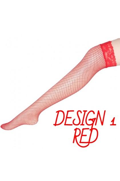 Women Sexy Lace Long Socks Thigh High Stocking Lace Sexy Mesh Hollow Fishnet Design Nightwear 蕾丝花边网袜 高筒袜子 Ready Stock 030
