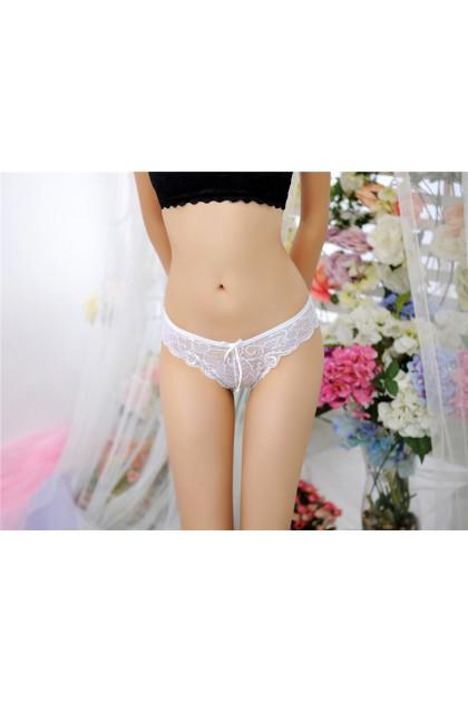 Women Sexy Panty Ladies Panty Nightwear Transparent Sexy Female Underwear Seluar Dalam Wanita 情趣女士内裤可爱蕾丝蝴蝶结 Ready Stock 1505