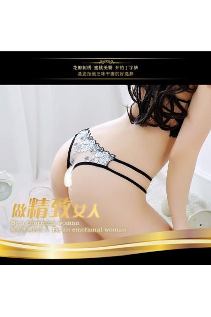 Women Sexy Panty Ladies Open Crotch Panty Nightwear Transparent Sexy Female Underwear Seluar Dalam Wanita 情趣女士内裤 Ready Stock 3014