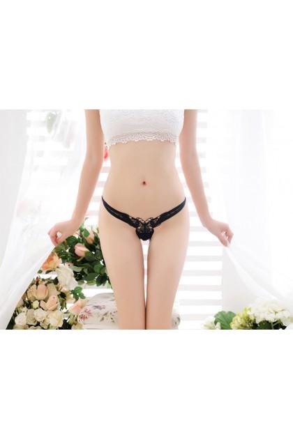 Women Sexy T-Back Butterfly Design Transparent Sexy Underwear Ladies Nightwear Hollow Seluar Dalam Wanita 蝴蝶性感底裤 Ready Stock 2135