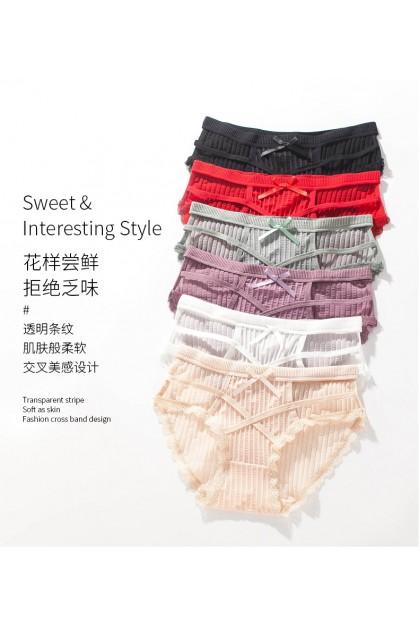 Women Sexy Panty Ladies Panty Hollow Nightwear Sexy Female Panties Underwear Seluar Dalam Wanita 情趣女士内裤 Ready Stock 3032