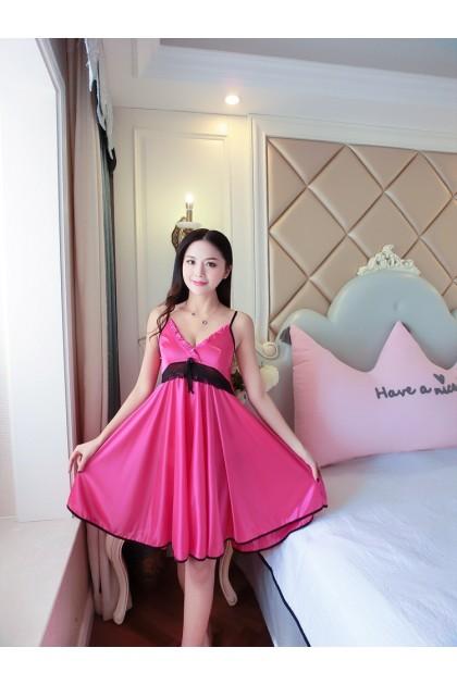 Women Nightdress Simple Sleepwear Lingerie Comfortable Nightwear Woman Skin-Friendly Nightgown Baju Tidur Wanita 女式睡裙 Ready Stock 216666