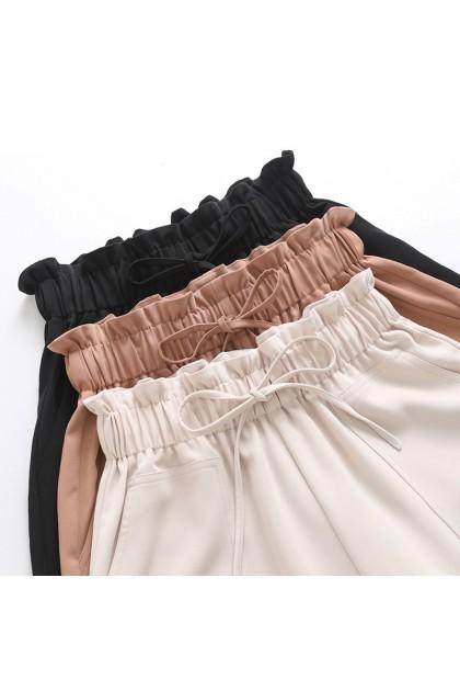Women Shorts Pants Korean Fashin Wide Leg Pants Flower Bud High Waist Casual Pants Seluar Pendek Perempuan 短裤宽松百搭高腰花苞裤 Ready Stock 219942