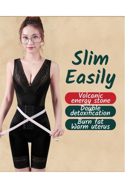 Women Slimming Corset Ultraslim Waist Trainer Postpartum Girdle Volcanic Stone Shaper Open Crotch Shapewear Korset Ready Stock 741141