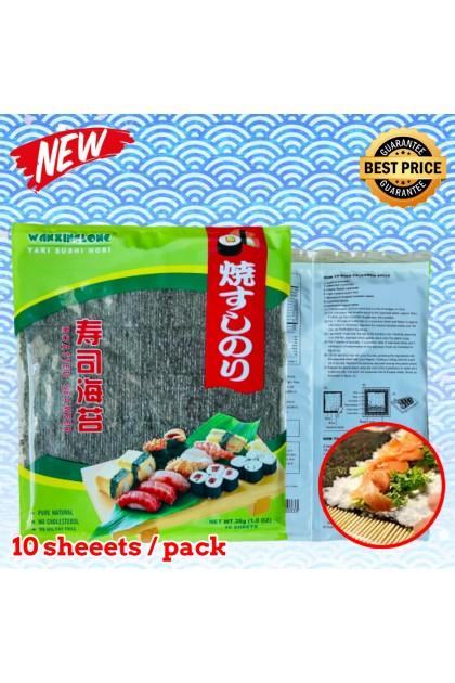 WanXingLong Roasted Seaweed Yaki Sushi Nori (10 sheets/pack) 包寿司用 烤紫菜 寿司紫菜/海苔 Ready Stock 6932061800333