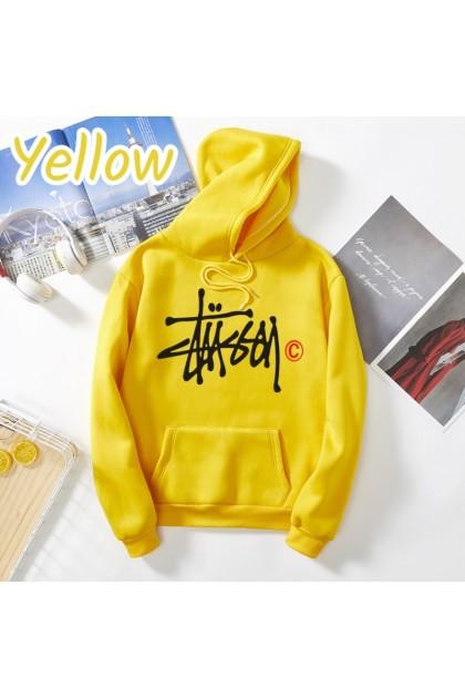 Korean Fashion Stxxsy Hooded Shirt Casual Outerwear Loose Hoodie Sweatshirt Couple Wear Top Baju Viral Ready Stock 329922