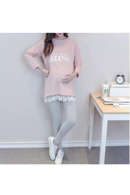 Korean Fashion Women Maternity Shirt Mum Blouse Pregnant Women Long Sleeve Top Baju Lengan Panjang Ibu Mengandung Ready Stock 433668