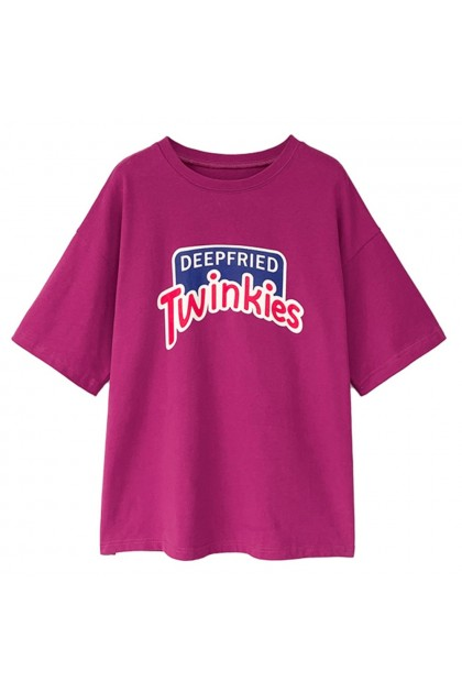 Plus Size Women T-Shirt Twinkies Short Sleeve Shirt Korean Fashion Top Casual Blouse Baju Lengan Pendek Ready Stock 214440
