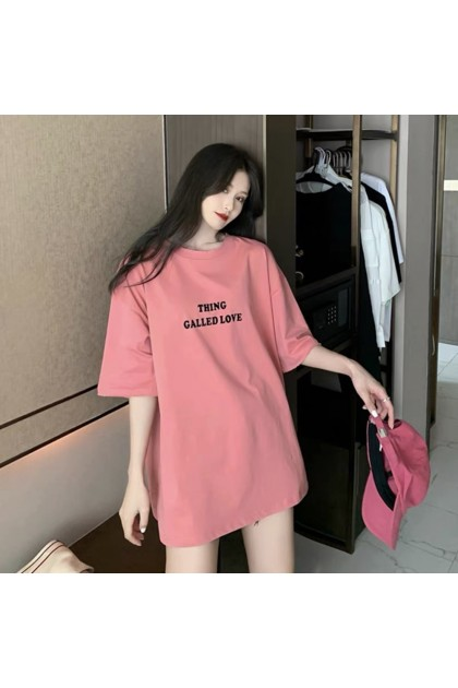 Plus Size Women Short Sleeve Shirt Korean Fashion T-Shirt Simple Top Casual Blouse Baju Lengan Pendek Baju Viral Murah Ready Stock 215540